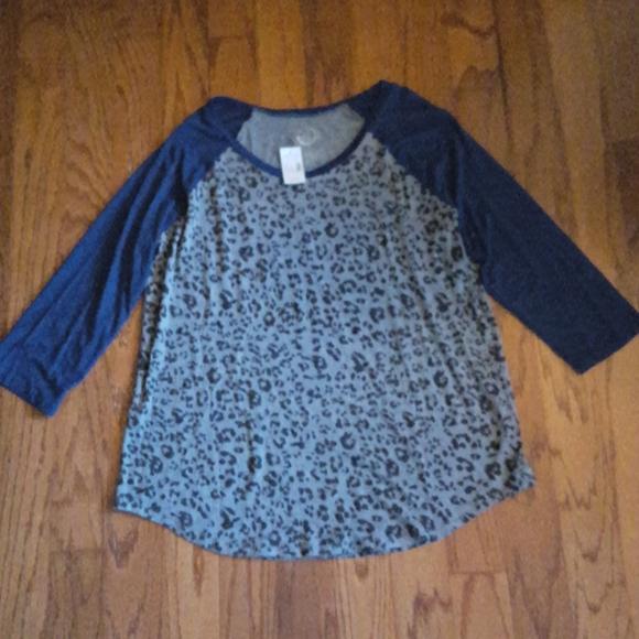 Maurices 24/7 cheetah print long sleeve shirt NWT